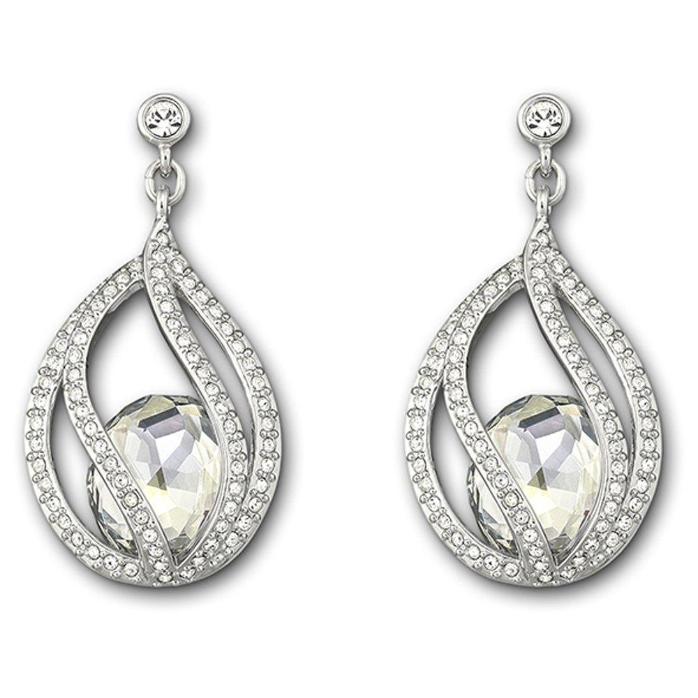 swarovski megan pierced earrings burns jewellers