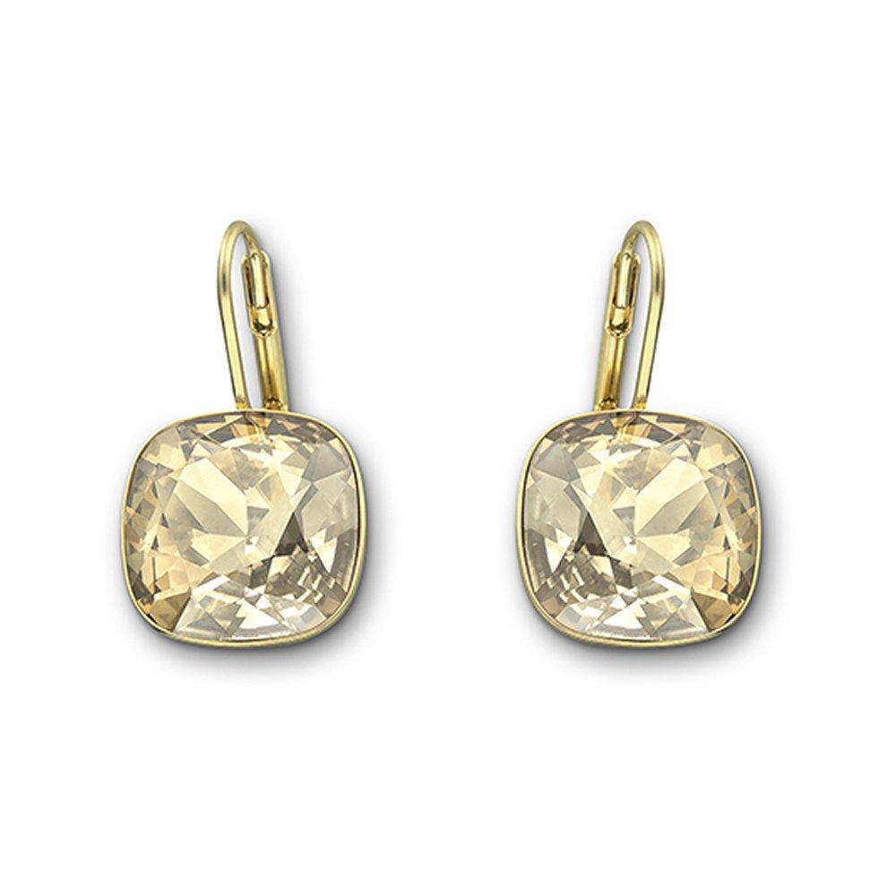 swarovski sheena golden shadow drop earrings