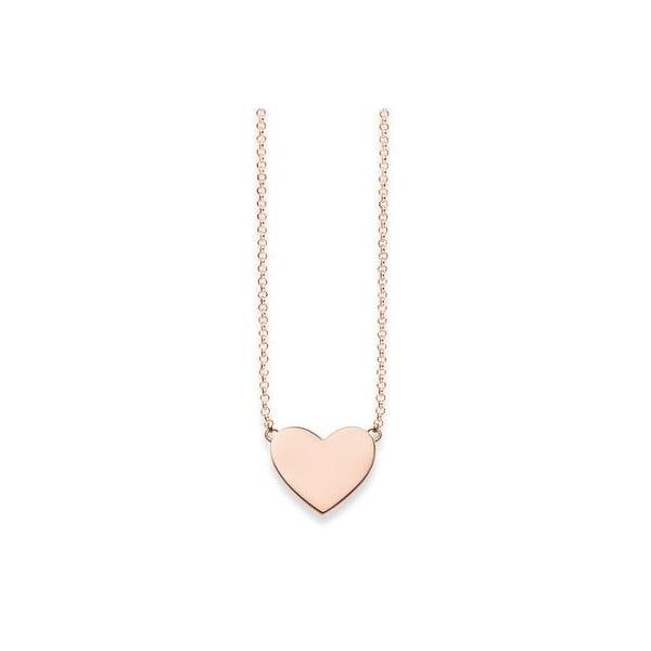 Thomas sabo silver rose gold plated heart necklace 42cm thomas thomas sabo silver rose gold plated heart necklace 42cm mozeypictures Image collections