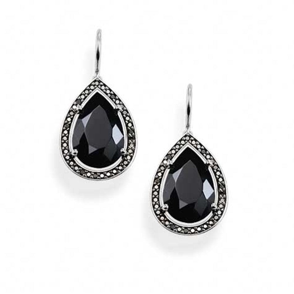 sabo sterling silver black onyx maharani drop