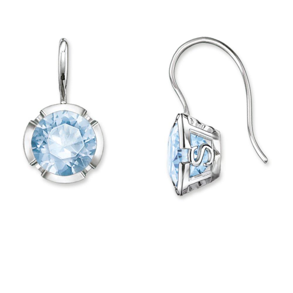 Thomas Sabo Sterling Silver Light Blue Drop Earrings